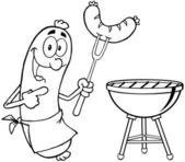 概述快乐香肠的香肠 — 图库照片