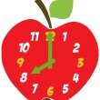 Red Apple Clock — 图库照片