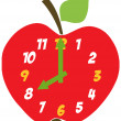 Red Apple Clock — Stock Photo