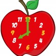 Apple Clock — Stockfoto
