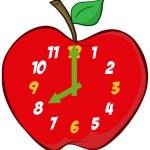 horloge pomme — Photo