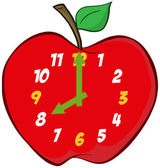 Apple Clock — Stock Photo