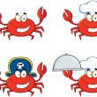 Royalty-Free Stock Photo: Four Crab Character.Collection
