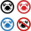 Crab Signs.Collection - ストック写真