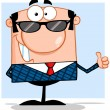 Royalty-Free Stock Photo: Happy Business Man With Sunglasses