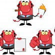 Royalty-Free Stock Photo: Devil Boss Cartoon Characters.Collection 2
