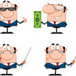 Business Man Cartoon Characters. Collection 2 — Stock Photo