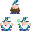 Wizard Cartoon Characters. Collection 2 — Stock Photo