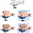Business Man Cartoon Characters. Collection 5 — Stock Photo