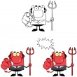 Devil Boss Cartoon Characters. Collection 8 — Stock Photo
