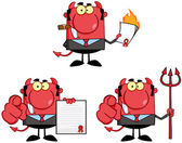 Devil Boss Cartoon Characters.Collection 2 — Stock Photo