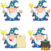 Wizard Cartoon Characters. Collection 1 — Stock Photo