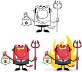 Devil Boss Cartoon Characters.Collection 5 — Stock Photo