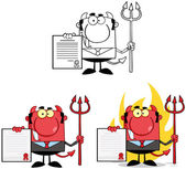 Devil Boss Cartoon Characters. Collection 4 — Stock Photo