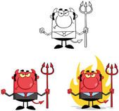 Devil Boss Cartoon Characters. Collection 6 — Stock Photo