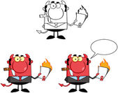Devil Boss Cartoon Characters. Collection 7 — Stock Photo