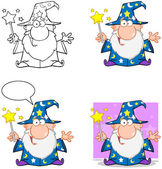 Wizard Cartoon Characters. Collection 3 — Stock Photo