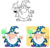 Wizard Cartoon Characters. Collection 6 — Stock Photo