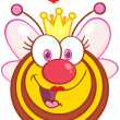 Queen Bee Cartoon Mascot Character With Hearts — Stock Photo #23736095