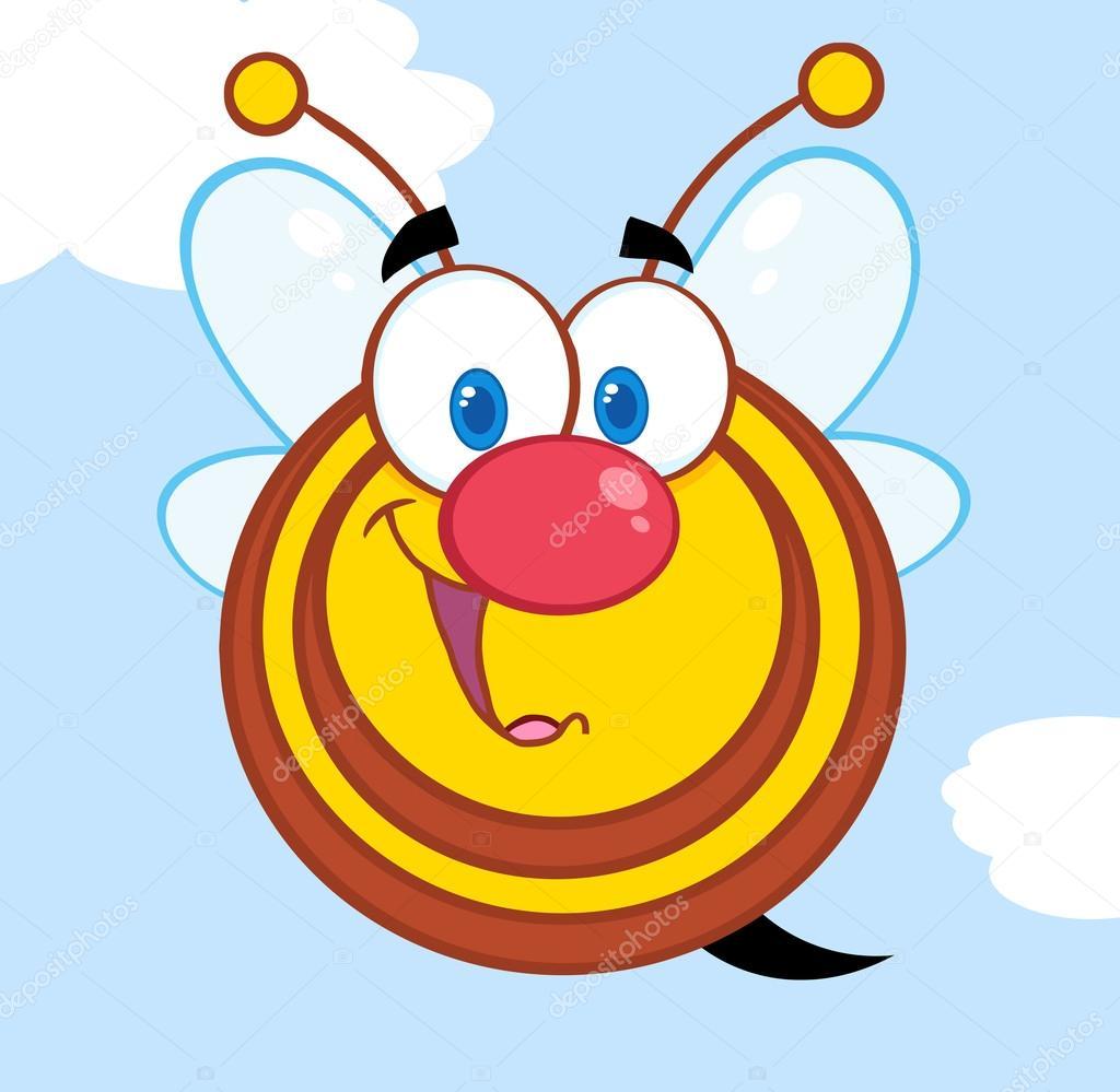 可爱的蜂蜜蜜蜂卡通人物