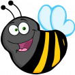 Stock Photo: Flying Bee Cartoon Mascot Character