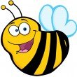 Stock Photo: Happy Bee Cartoon Mascot Character