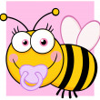 Baby Girl Bee Cartoon Character — Stock Photo
