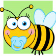 Baby Boy Bee Cartoon Character — Stock Photo