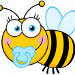 Royalty-Free Stock Photo: Baby Boy Bee Cartoon Mascot Character