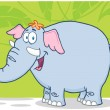 Happy Elephant — Stock Photo