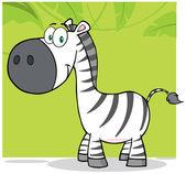 Smiling Zebra With Background — Stock Photo