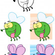 Fly Cartoon Characters.Collection - Stock Photo