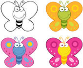 Smiling Butterflies.Collection — Stock Photo