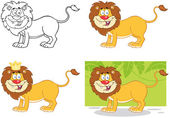 Lion de dessin animé Character.Collection — Photo