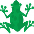 Green Spotted Frog Silhouette Logo — Stock Photo