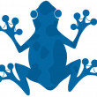 Blue Spotted Frog Silhouette Logo — Stock Photo