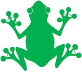 Green Frog Silhouette Logo — Stock Photo