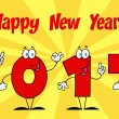 2014 New Year With Background — Stock Photo #26791775