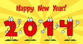 2014 New Year With Background — Stock Photo