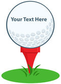 Golf Ball Tee Sign — Stockfoto