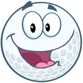Happy Golf Ball — Stockfoto