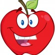 Stock Photo: Smiling Red Apple
