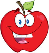 Smiling Red Apple — Stock Photo
