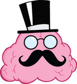 Brain Gentleman Cartoon Character — Stock fotografie