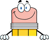 在空白的标志微笑铅笔 — 图库照片
