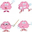 Brain Cartoon Mascot Collection 1 — Stock Photo #28925895