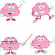 Stock Photo: Brain Cartoon Mascot Collection 1