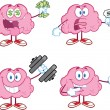 Stock Photo: Brain Cartoon Mascot Collection 4