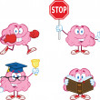 Stock Photo: Brain Cartoon Mascot Collection 3