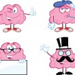 Stock Photo: Brain Cartoon Mascot Collection 7